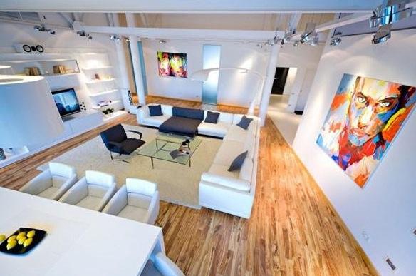 Loft w stylu nowoczesnym