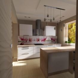 dom jednorodzinny - kuchnia, KADA Wnętrza s.c. Skierecka Laskowska
