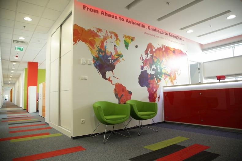 Spójne wnętrze biura