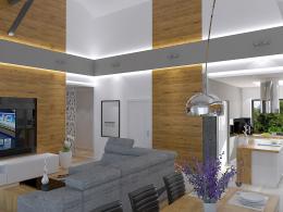 Projekt wnętrz w domu jednorodzinnym Szczecin