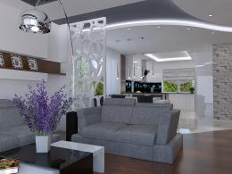 Projekt wnętrz w domu jednorodzinnym w Szczecinie
