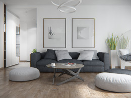 Nowocześnie urządzone mieszkanie w Warszawie