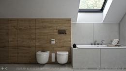 łazienka z litym drewnem