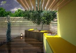 Ogród przy segmencie
