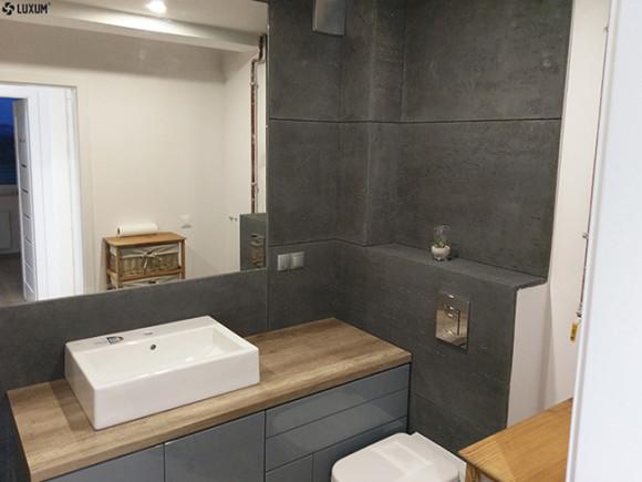 Mała łazienka Z Betonem Architektonicznym Luxum