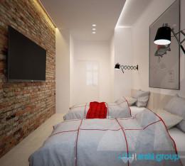 Projekt wnętrz mieszkania studenckiego w Gliwicach