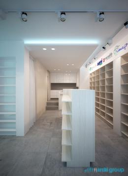 Projekt wnętrz sklepu medycznego w Sośnicowicach