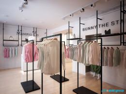 Projekt wnętrz sklepu z odzieżą damską