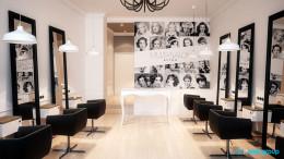 Projekt wnętrz salonu fryzjerskiego w Bytomiu