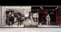 Projekt wnętrz sklepu odzieżowego z kawiarnią Van Horn
