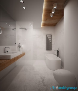 Projekt wnętrz łazienek domu w Świętochłowicach