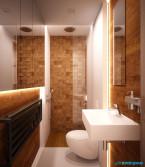 Projekt wnętrza łazienki w domu jednorodzinnym w Zabrzu