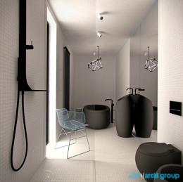 Projekt wnętrz łazienki w domu jednorodzinnym w Katowicach