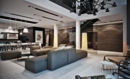 Projekt wnętrz salonu w domu w Rudzie Śląskiej