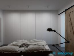 Projekt wnętrza sypialni w domu jednorodzinnym w Zabrzu