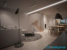 Projekt wnętrz domu w Gliwicach