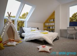Projekt pokoju dziecięcego w domu jednorodzinnym w Orzeszu