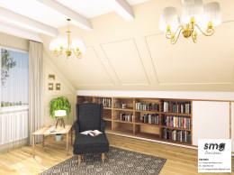 Wnętrze pokoju biblioteczki