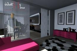 projekt mieszkania Glamour