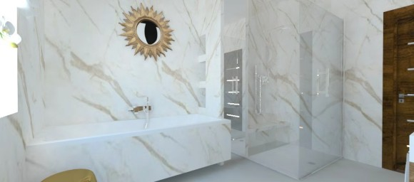 łazienka W Marmurze Beata Kozar Beata Kozar Interior E