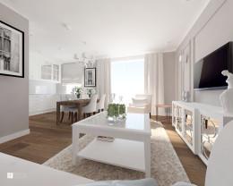 mieszkanie w stylu hampton