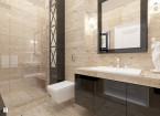 łazienka trawertyn z czernią