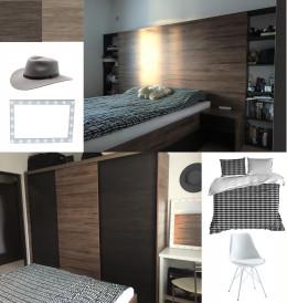 Projekt zabudowa sypialnia