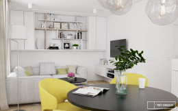 apartament na Wilanowie_strefa dzienna