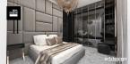 Elegancka sypialnia i łazienki w apartamencie