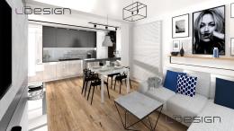 Salon z aneksem kuchennym Gliwice