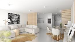 Apartament w bieli