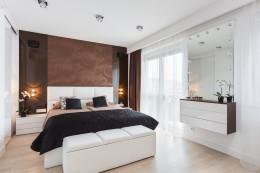 Sypialnia z brązem