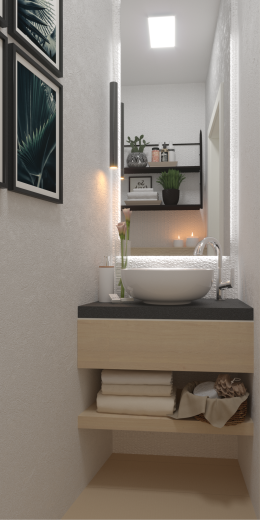 Toaleta w bieli