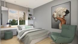 Sypialnia w kobiecym klimacie
