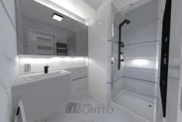 Projekt - łazienka w bloku.