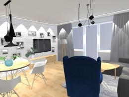 Projekt koncepcyjny salon w bloku
