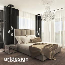 POWER OF DESIGN. Sypialnia z garderobami i łazienką