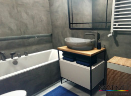 Betonowa łazienka