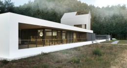 Futurystyczny dom horyzontalny