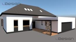 Projekt elewacji budynku w Gliwicach