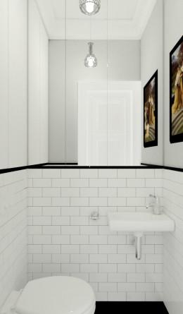 Mała klasyczna toaleta
