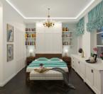 Sypialnia w stylu klasycznym z garderobą
