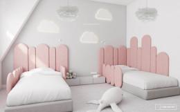 Pastelowa dziewczęca sypialnia