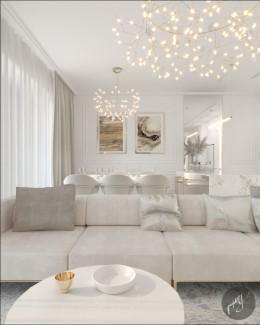 Biało-Złote mieszkanie
