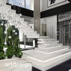 Projekt schodów i holu wejściowego. CLEAR AS DAY