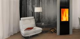 projekt wnętrz salon domu pod miastem