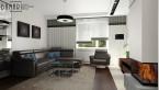 Salon z kominkiem inspirowany stylem  ART DECO.