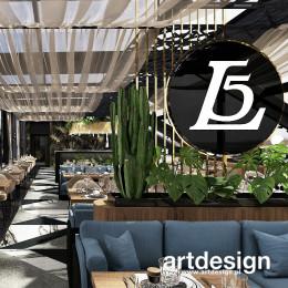 Aranżacja restauracji LEVEL5 LOUNGE & BAR