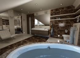 Nowoczesna łazienka w mieszkaniu w Warszawie