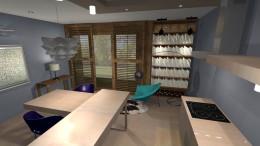 pokój dzienny z aneksem kuchennym